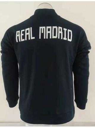 Олимпийка Реал Мадрид черная 2018-2019
