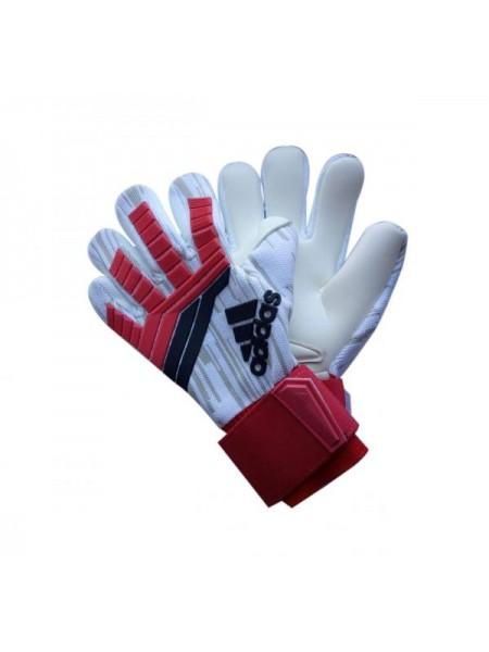 Вратарские перчатки Adidas 120 бело-красные