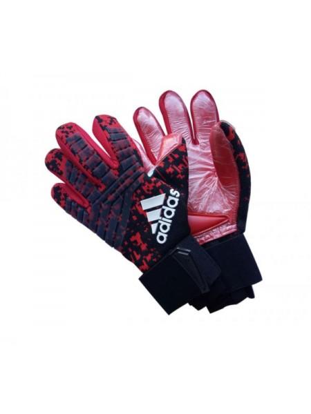 Вратарские перчатки Adidas 120 красно-черные