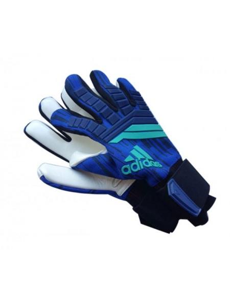 Вратарские перчатки Adidas 120 сине-бирюзовые