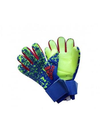 купить Вратарские перчатки Adidas 120 сине-салатовые