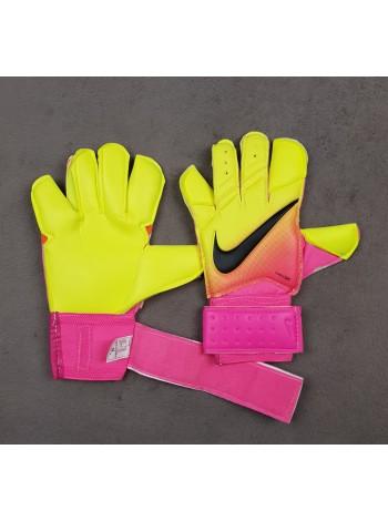 купить Вратарские перчатки Nike Vapor Grip 3 салатово-розовые
