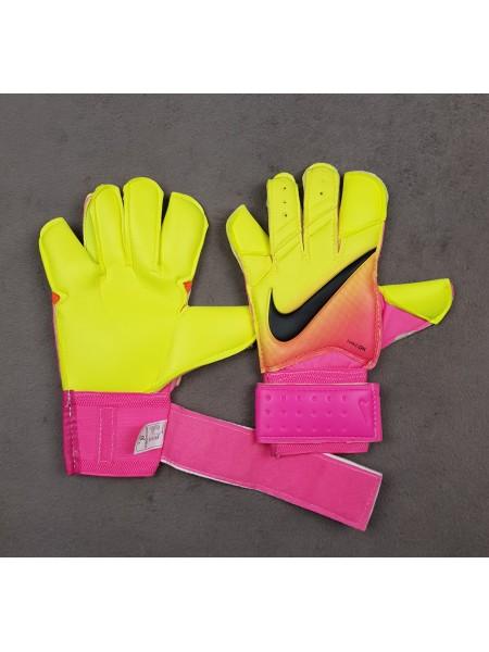 Вратарские перчатки Nike Vapor Grip 3 салатово-розовые