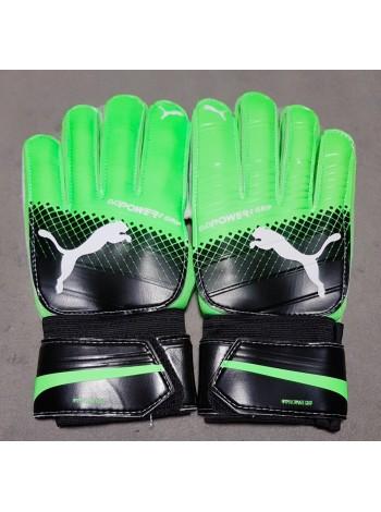 купить Вратарские перчатки Puma evoPOWER Grip 2 черно-зеленые