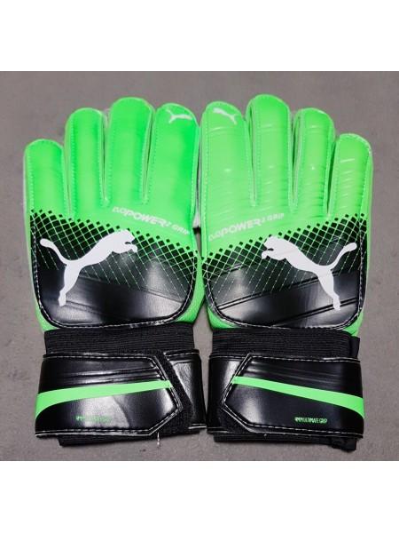 Вратарские перчатки Puma evoPOWER Grip 2 черно-зеленые