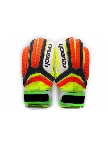 купить Вратарские перчатки Reusch М1 replica салатово-оранжевые