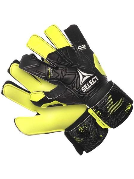 Детские вратарские перчатки SELECT 03 YOUTH (405) черно-желтые