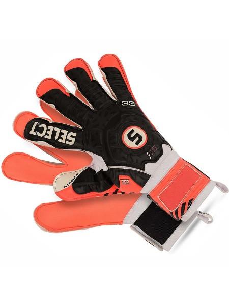 Перчатки вратарские SELECT 33 ALLROUND (261) оранжево-черно-белые