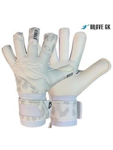 Перчатки вратарские BRAVE GK REFLEX белые