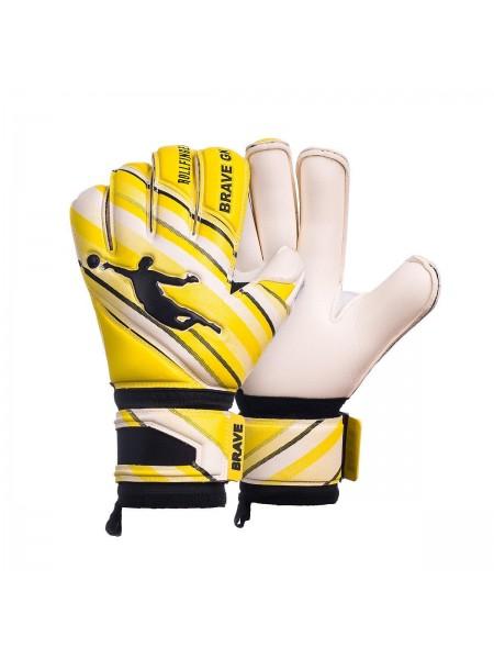 Перчатки вратарские BRAVE GK PHANTOME желто-белые