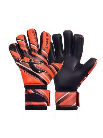 купить Перчатки вратарские BRAVE GK POWER TRAIN оранжево-черные