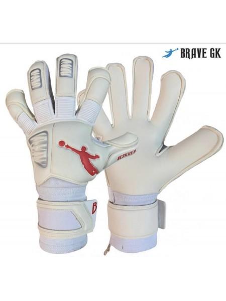Перчатки вратарские BRAVE GK RESQUER бело-красные