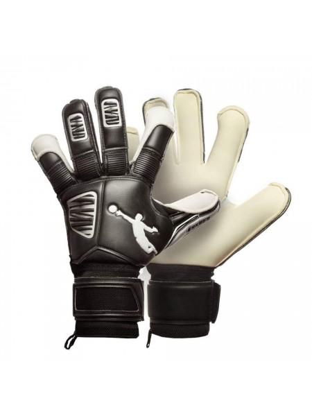 Перчатки вратарские BRAVE GK RESQUER черно-белые