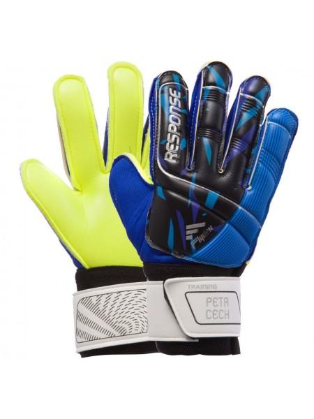 Вратарские перчатки Reusch сине-салатовые