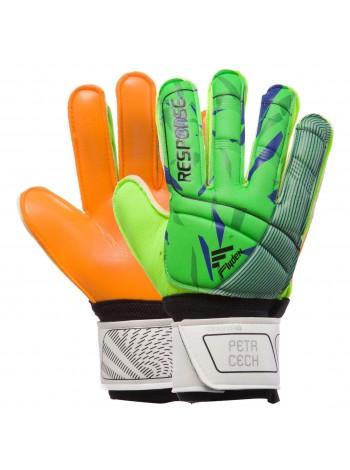 купить Вратарские перчатки Reusch зелёно-оранжевые