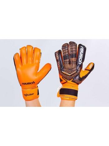 купить Вратарские перчатки Reusch черно-оранжевые