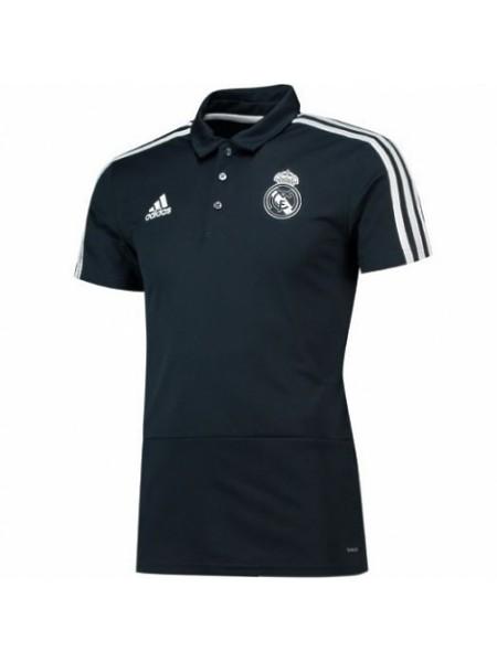 Футболка поло Реал Мадрид темно-синяя 2018-2019