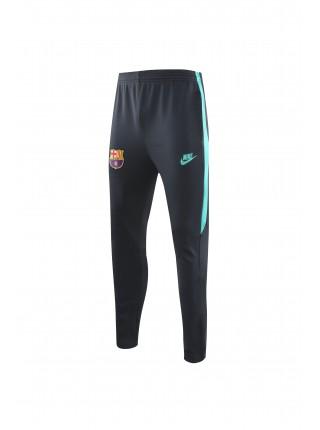 Спортивный костюм Барселона черный с бирюзовым 2019-2020