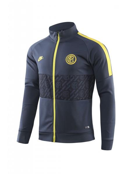 Спортивный костюм Интер черный с желтым 2019-2020