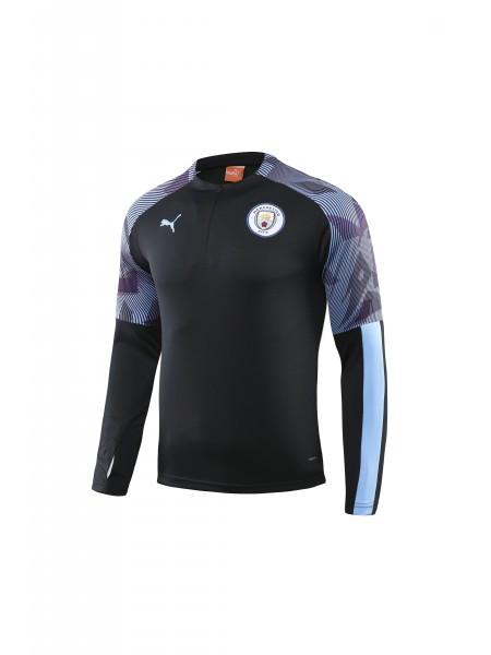 Тренировочный костюм Манчестер Сити черный 2019-2020