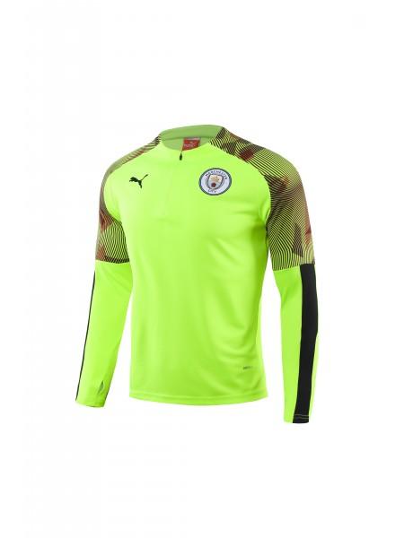 Тренировочный костюм Манчестер Сити салатовый 2019-2020