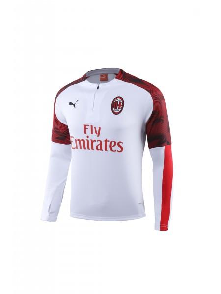 Тренировочный костюм Милан белый 2019-2020