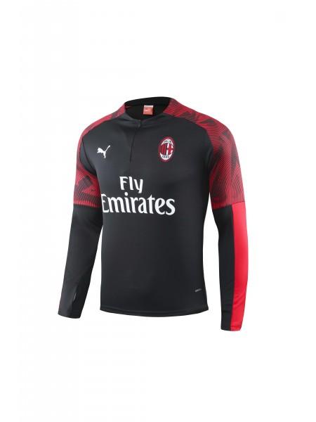 Тренировочный костюм Милан черный 2019-2020