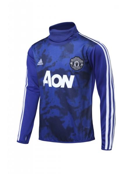 Тренировочный костюм Манчестер Юнайтед синий 2019-2020