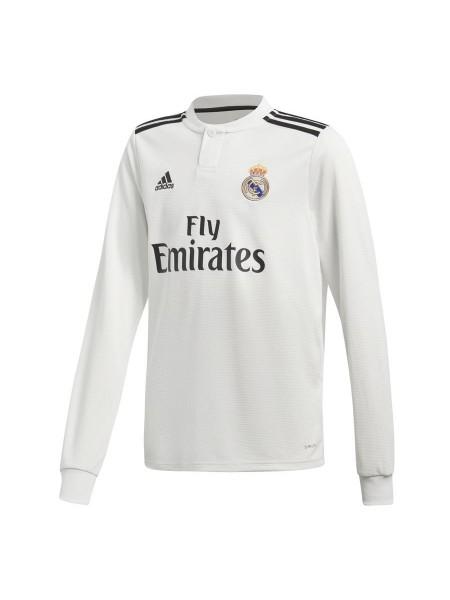Детская футбольная форма Реал Мадрид домашняя 2018-2019 длинный рукав