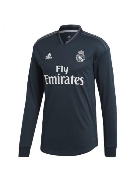 Футбольная форма Реал Мадрид выездная 2018-2019 длинный рукав
