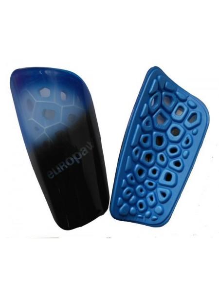 Щитки футбольные Europaw light черно-голубые