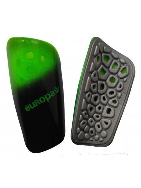 Щитки футбольные Europaw light черно-зеленые