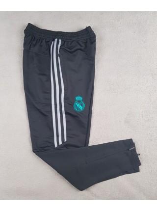 Футбольные штаны Реал Мадрид черно-серые