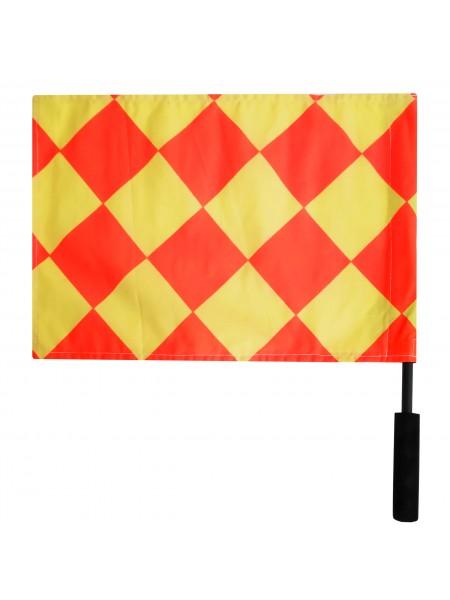 Флажок Лайнсмена Аматорский SWIFT Referee Flag, 2 флага, желто красный
