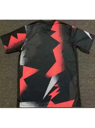 Тренировочная футболка ПСЖ игровая 2019-2020 черно-красная