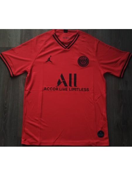 Тренировочная футболка ПСЖ игровая 2019-2020 красная