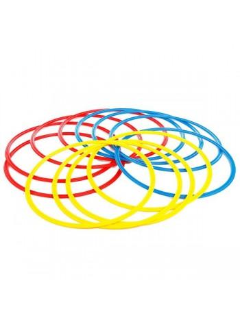купить Кольца тренировочные (комплект 12 шт, 3 цвета, 50см) + сумка