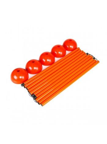 купить Стойка дриблинг с базой для помещения (комплект 5 шт. оранжевые) + сумка