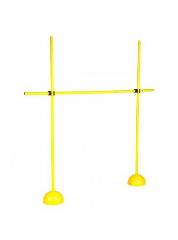 купить Стойки 2шт с перекладиной/барьер желтые
