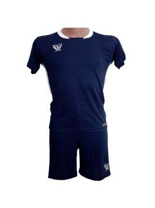 Футбольная форма детская Swift PRIORITET (т.сине-белая) 158 см