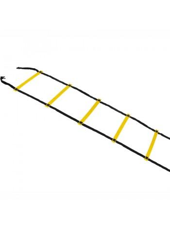 купить Координационная лестница SELECT Agility ladder - outdoors, желт/черн (14 ступеней, 6 м)