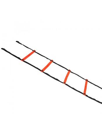 купить Координационная лестница SELECT Agillity ladder - indoor (216), оранж/черн (14 ступеней, 6 м)