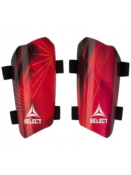 Щитки футбольные Select Standard (005) красный p.S