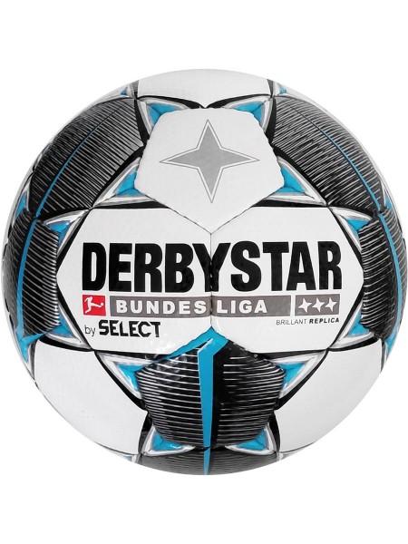 Мяч футбольный DERBYSTAR FB BL BRILLANT REPLICA IMS (147), бел/черн/сер р.5