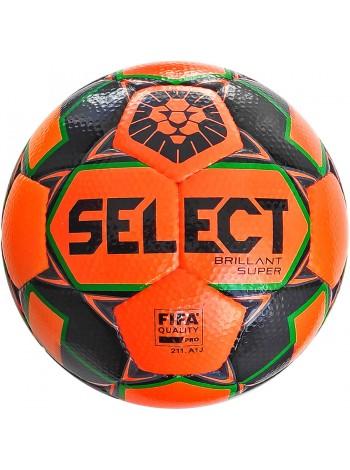 купить Мяч футбольный SELECT Brillant Super FIFA PFL (015) оранж/серый р.5