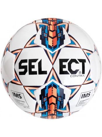 купить Мяч футбольный SELECT Contra IMS(smpl), бел/оранж р.5