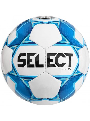 купить Мяч футбольный SELECT Fusion (005) бел/син, размер 3