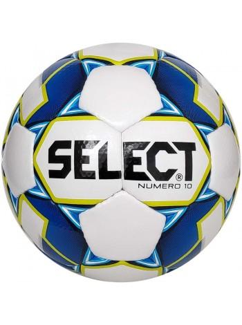 купить Мяч футбольный SELECT Numero 10 (011) бел/синий р.4