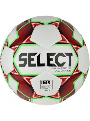 купить Мяч футбольный SELECT NUMERO 10 ADVANCE IMS кр/бел размер 5