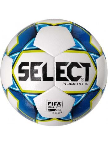 купить Мяч футбольный SELECT Numero 10 FIFA (015) бел/син, размер 5